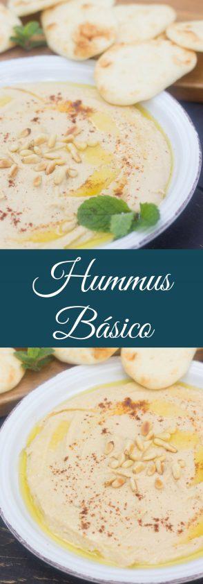 Receta de Hummus Básico, muy fácil.
