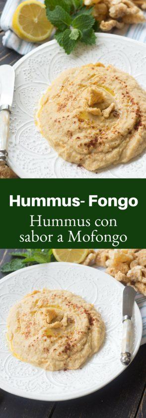 Receta de Hummus con sabor a mofongo