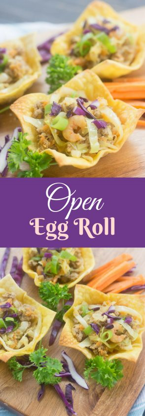 Receta de Open Egg Roll