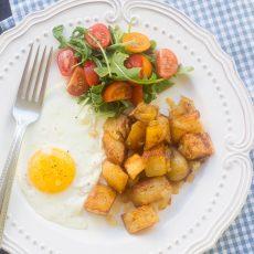 Receta de papas rostizadas para desayuno