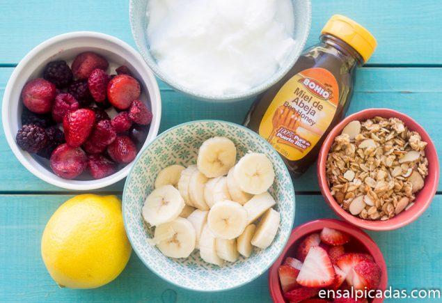 Parfait de Yogur y Frutas