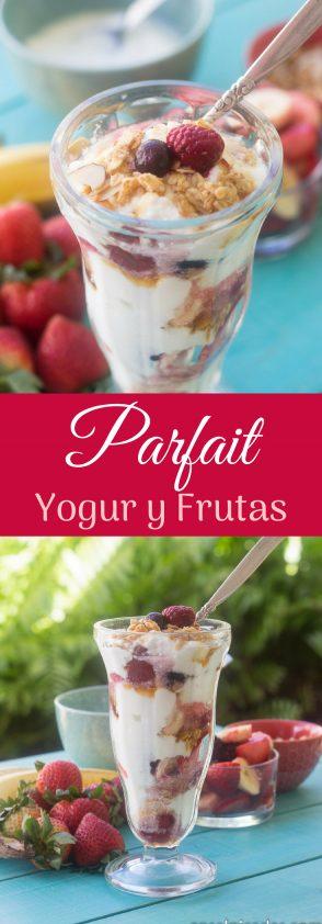 Receta de Parfait de Yogur y frutas