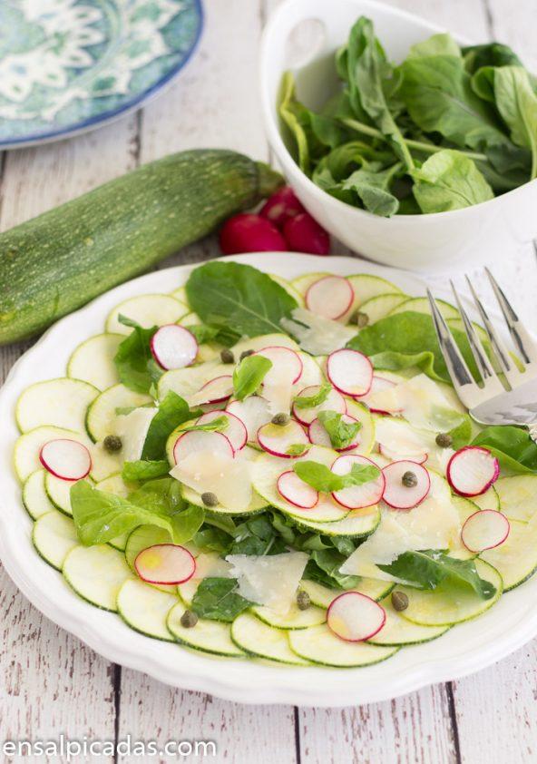Receta de Carpaccio de Zucchini (calabacín verde)