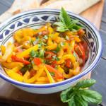 Receta italiana de Ensalada de Pimientos Peperonata