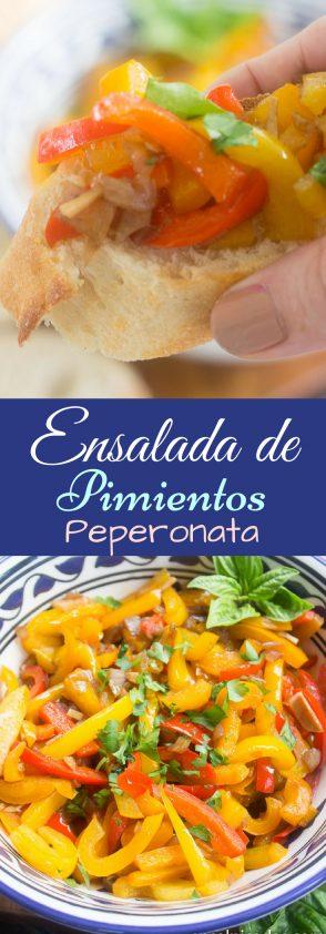 Espectacular receta de Ensalada de Pimientos Italiana llamada Peperonata