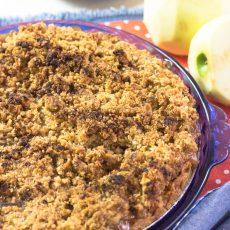 Receta de pastel de manzana - Apple Crumble Pie