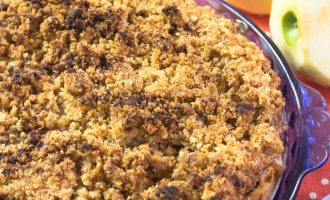 Receta de pastel de manzana - Apple Crumble Pie