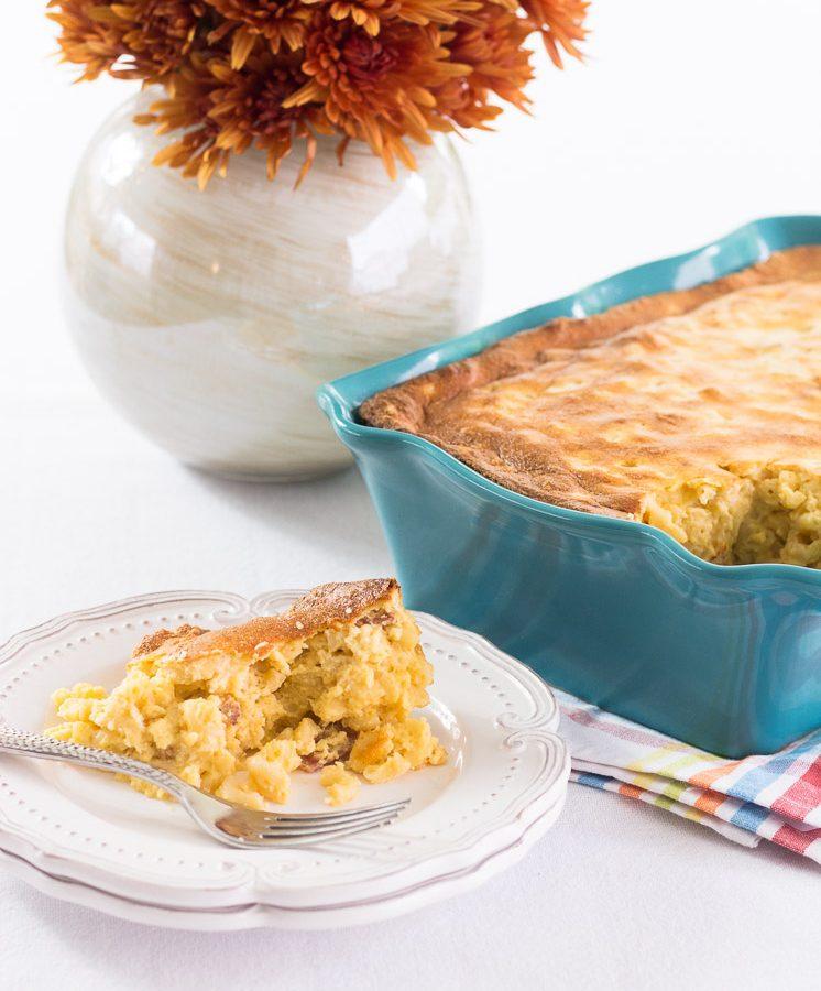 Receta de Macarrones con queso estilo soufflé.