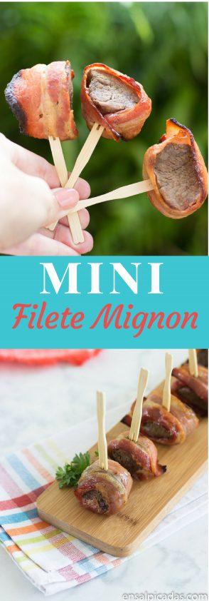 Receta muy fácil de Mini Filete Mignon al horno.