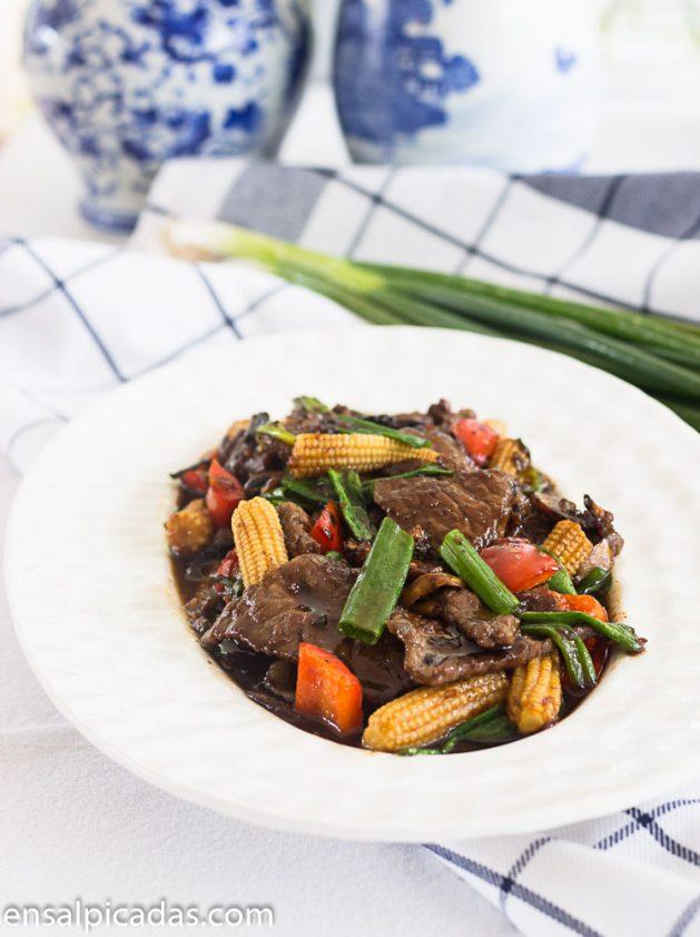 Receta de Carne Mongolian, Mongolian Beef