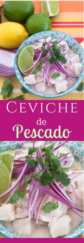 Receta de Ceviche de Pescado con un toque de jengibre y leche de coco.