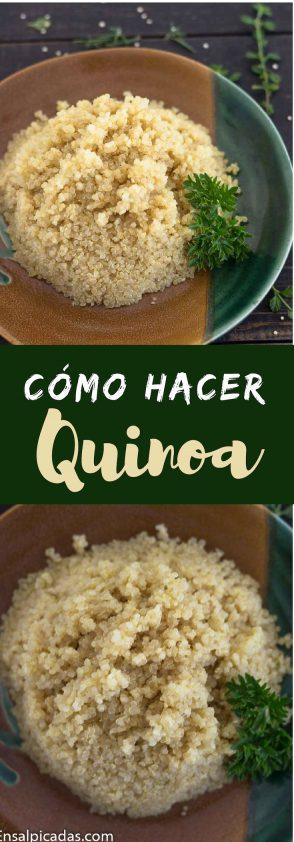 Cómo se hace la quinoa y cómo sabe el quinoa