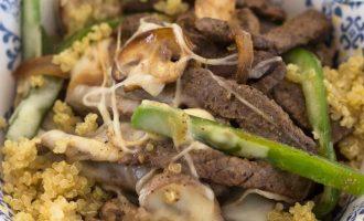 Receta de Philly CheeseSteak con Quinoa