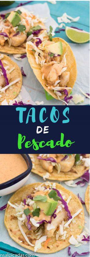 Receta de Tacos de Pescado Frito con Salsa Chili Mayo