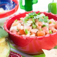 Pico de Gallo simple receta