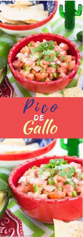 Receta de Pico de Gallo Simple.