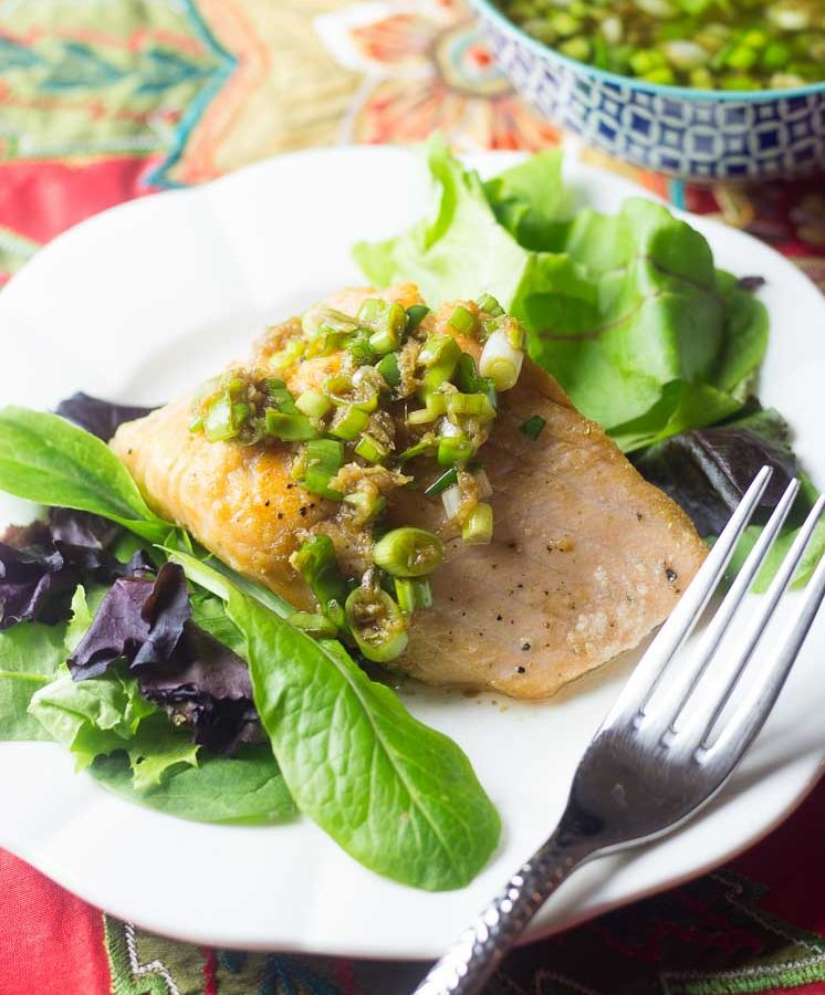Receta de Salsa multi uso con cebollines, jengibre y salsa soya