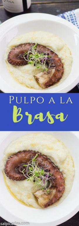 Receta de Pulpo a la Brasa o Parrilla ( o a la plancha) con pulpo pre cocido.