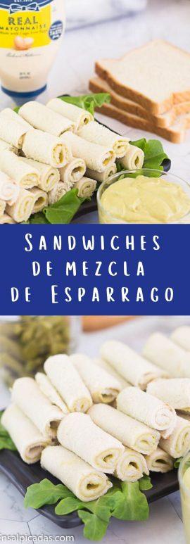 Receta de Sándwiches (sandwichitos) de espárrrago