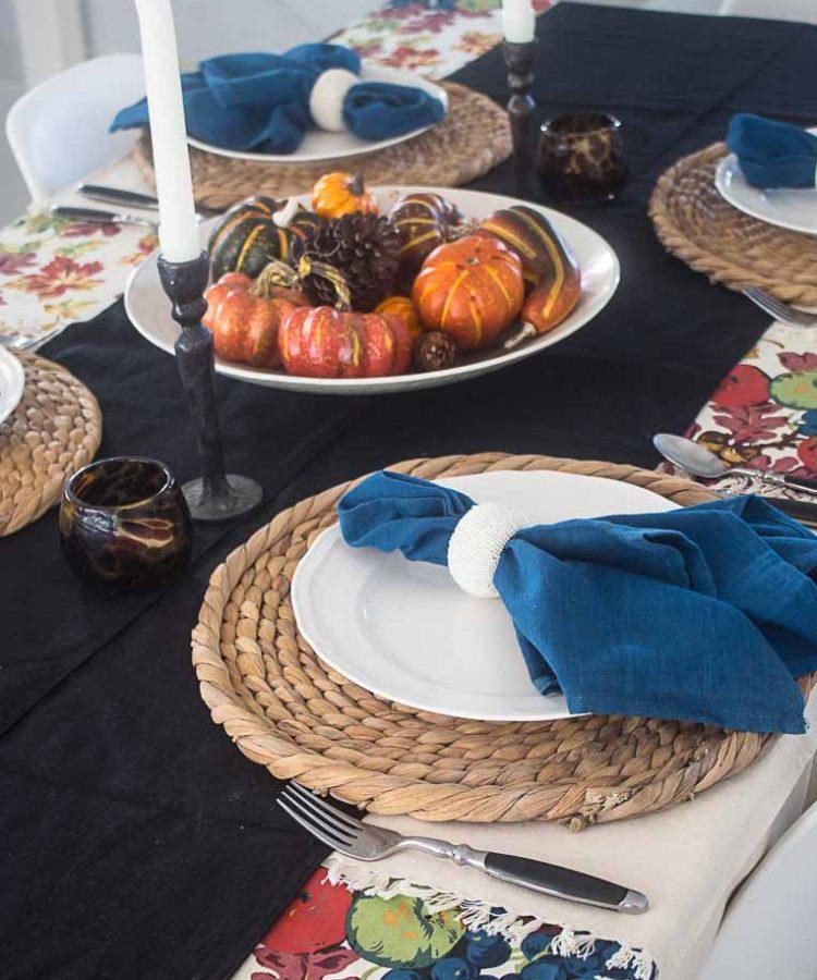thansgiving accion de gracias mesa decorada