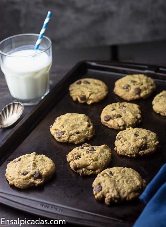 Receta de galletas deliciosas de chocolate chip