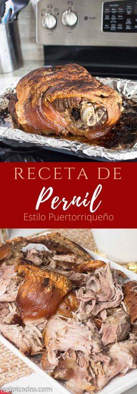 Receta de Pernil al horno estilo puertorriqueño