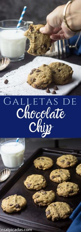 Receta de Galletas de Chocolate chip con avena y coco.