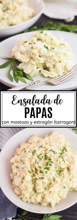 Receta de Ensalada de Papas con Mostaza y Estragón