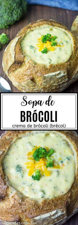 Receta de Crema (sopa) de Brócoli (brécol)