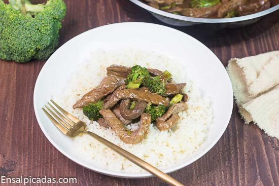 Receta de stir fry Carne con Brócoli