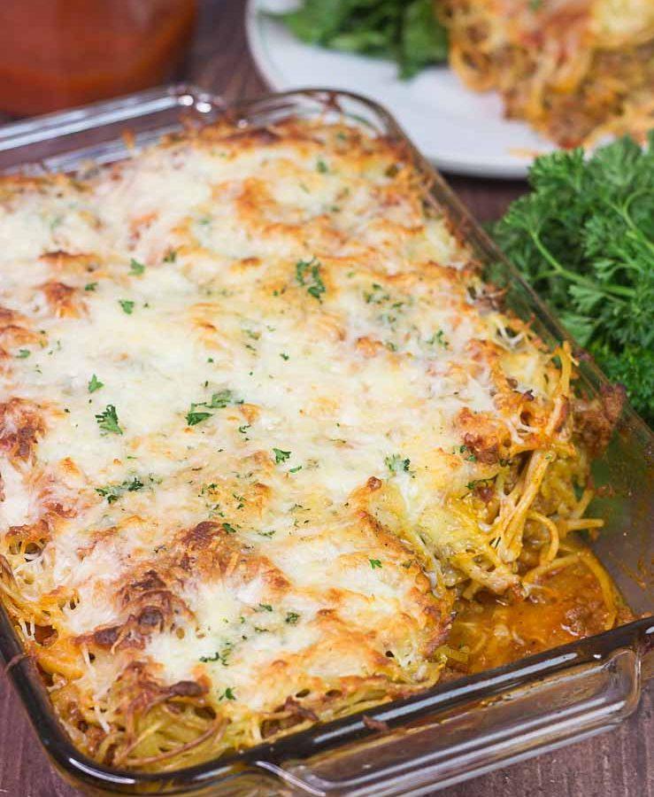 Receta de lasaña hecha con fideos de espagueti
