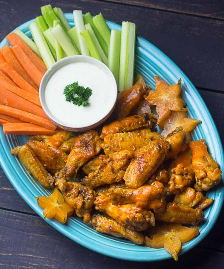 Receta de alitas a la parrilla con salsa de Buffalo Wings