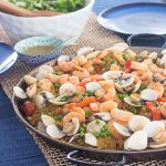 Como hacer paella con mariscos