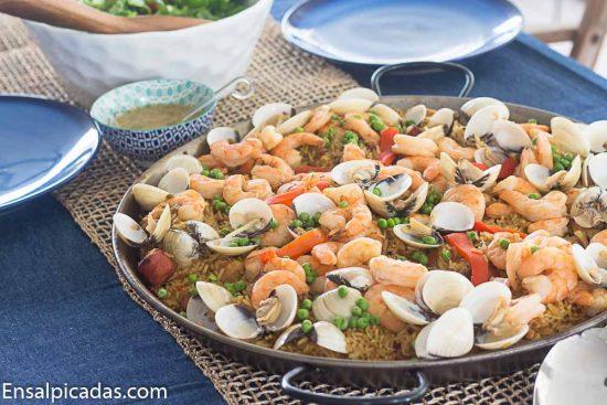Receta de Paella con mariscos