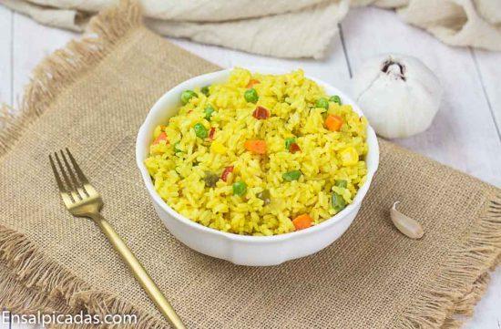 Receta de Arroz Amarillo con Vegetales