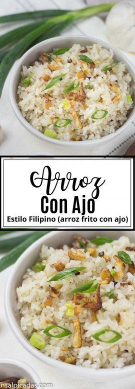 Receta de Arroz frito con ajo al estilo filipino