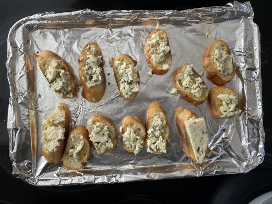 Aperitivo de prosciutto, pera y queso