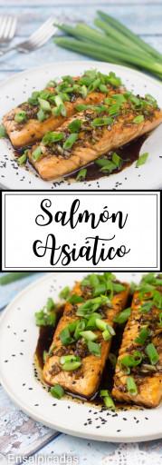 Receta de salmon en salsa asiatica (salmon asiatico)