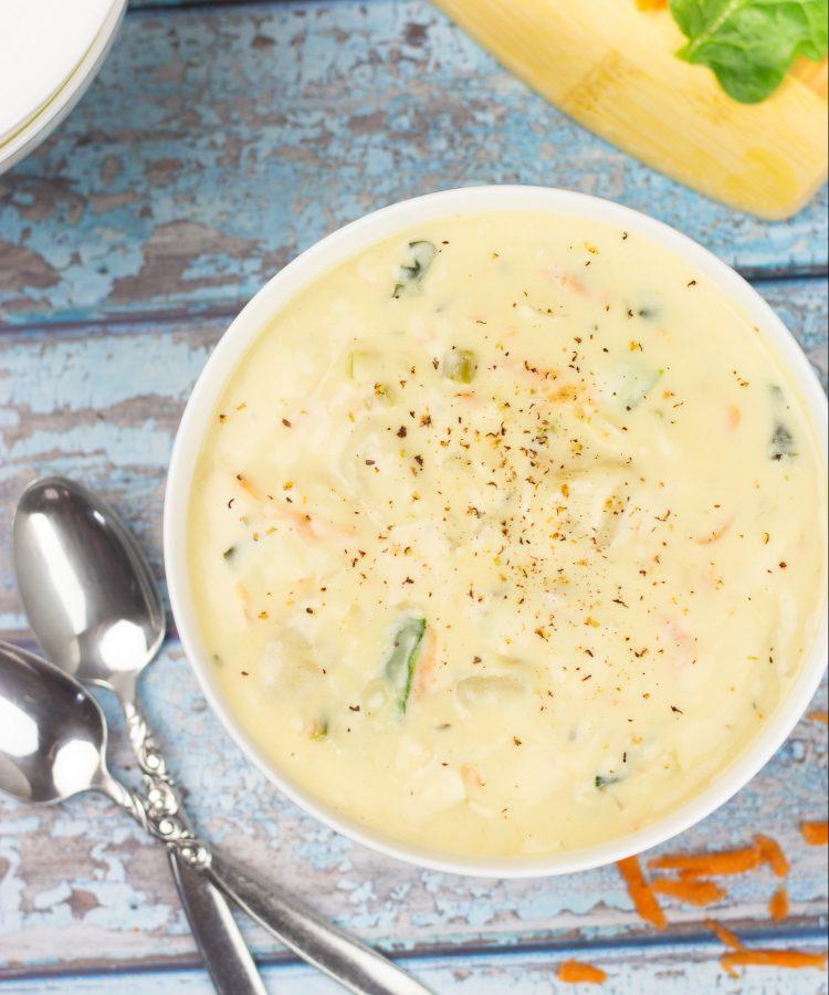 Receta de Copycat Sopa Olive Garden ñoquis y pollo