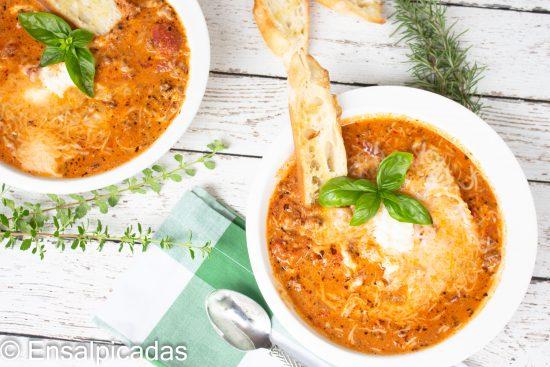Receta de lasagna al caldero