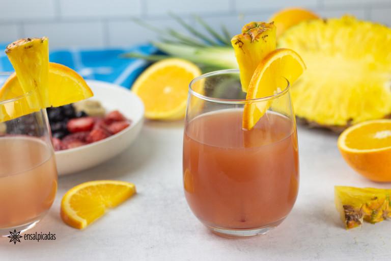 Receta de Coctel Rum Punch o caribbean punch