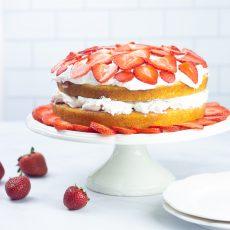 Receta de bizcoco Strawberry Shortcake